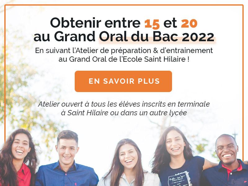 Ecole Saint Hilaire Grand Oral 2022